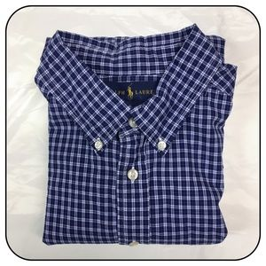 Ralph Lauren Boys Large Button Down Dress Shirt